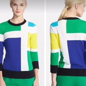 Kate Spade Live Colorfully Block Sweater, M
